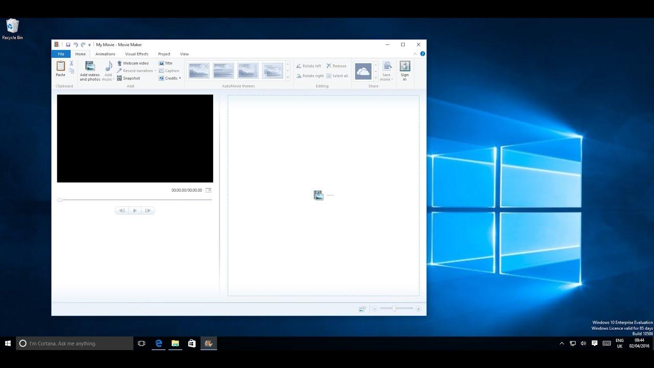windows movie maker windows 10 review